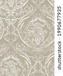classic linear damask jacquard... | Shutterstock .eps vector #1990677935