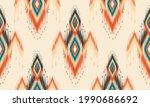 geometric ethnic oriental ikat... | Shutterstock .eps vector #1990686692