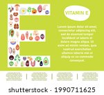 vitamins e in food. vitamins in ...   Shutterstock .eps vector #1990711625