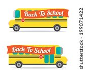 back to school vector... | Shutterstock .eps vector #199071422