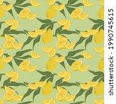vector background of citrus... | Shutterstock .eps vector #1990745615