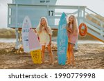Two Young Pretty Blond Girls In ...