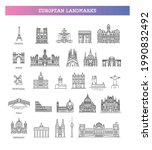 simple linear vector icon set... | Shutterstock .eps vector #1990832492