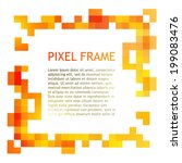 Colorful Pixel Frame. Vector...