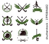 hockey field labels and icons... | Shutterstock .eps vector #199084682
