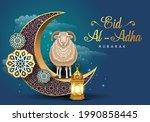 eid mubarak for the celebration ... | Shutterstock .eps vector #1990858445