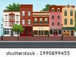 city street building houses...   Shutterstock .eps vector #1990899455