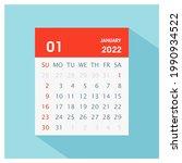 january 2022   calendar icon  ... | Shutterstock .eps vector #1990934522