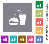 fast food menu with... | Shutterstock .eps vector #1990966682