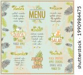 tropic style menu template with ...   Shutterstock .eps vector #1990984475