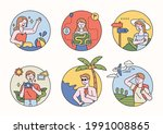 character design on vacation... | Shutterstock .eps vector #1991008865