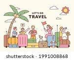 vacation travel concept banner...   Shutterstock .eps vector #1991008868