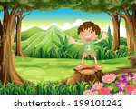 illustration of a stump with a... | Shutterstock . vector #199101242