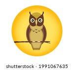an owl is a nocturnal bird of...   Shutterstock .eps vector #1991067635
