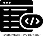 coding vector glyph flat icon   Shutterstock .eps vector #1991074502