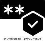 password vector glyph flat icon   Shutterstock .eps vector #1991074505