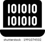 binary vector glyph flat icon   Shutterstock .eps vector #1991074532