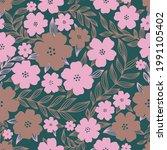 seamless pattern flower design...   Shutterstock .eps vector #1991105402