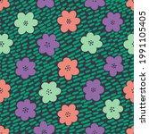 seamless pattern flower design...   Shutterstock .eps vector #1991105405