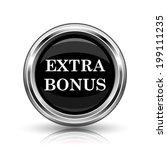 extra bonus icon. metallic...   Shutterstock . vector #199111235