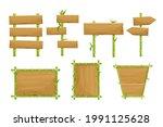 set of green bamboo frames ...