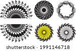 floral frames or circles on... | Shutterstock .eps vector #1991146718