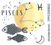 zodiac pisces boho magical... | Shutterstock .eps vector #1991200802