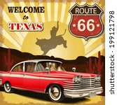 Welcome To Texas Retro Poster.