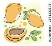 natural fruits  vitamin juice....   Shutterstock .eps vector #1991233505