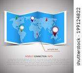 world map illustration and info ... | Shutterstock .eps vector #199124822