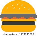 burger icon hamburger... | Shutterstock .eps vector #1991249825