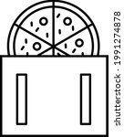 pizza in box icon vector...   Shutterstock .eps vector #1991274878