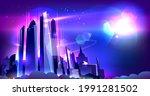 shiny city metropolis vector...   Shutterstock .eps vector #1991281502