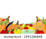 illustration with a harvest of...   Shutterstock .eps vector #1991286848