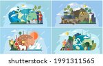 set of illustrations about... | Shutterstock .eps vector #1991311565