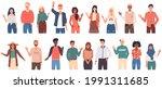 people greeting gesture.... | Shutterstock .eps vector #1991311685