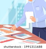 visualize with business... | Shutterstock .eps vector #1991311688