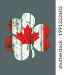 canadian flag irish shamrock st ... | Shutterstock .eps vector #1991322602