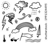 collection of hand drawn doodle ... | Shutterstock .eps vector #1991324495