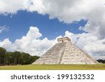 temple of chichen itza  mayan... | Shutterstock . vector #199132532