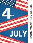 4 july american independence... | Shutterstock .eps vector #199133036