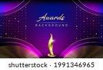 blue pink golden shimmer awards ... | Shutterstock .eps vector #1991346965