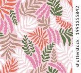 vector stylized tropical leaves ... | Shutterstock .eps vector #1991355842