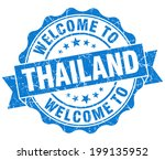welcome to thailand blue grungy ... | Shutterstock . vector #199135952