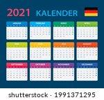 2022 calendar   vector template ... | Shutterstock .eps vector #1991371295