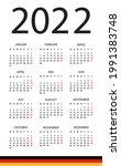 calendar 2022   illustration.... | Shutterstock .eps vector #1991383748