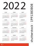 2022 calendar   vector template ... | Shutterstock .eps vector #1991383808