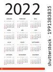 2022 calendar   vector template ... | Shutterstock .eps vector #1991383835