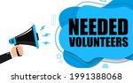 megaphone with text volunteers... | Shutterstock .eps vector #1991388068