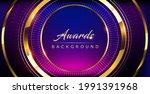 blue pink golden shimmer awards ... | Shutterstock .eps vector #1991391968